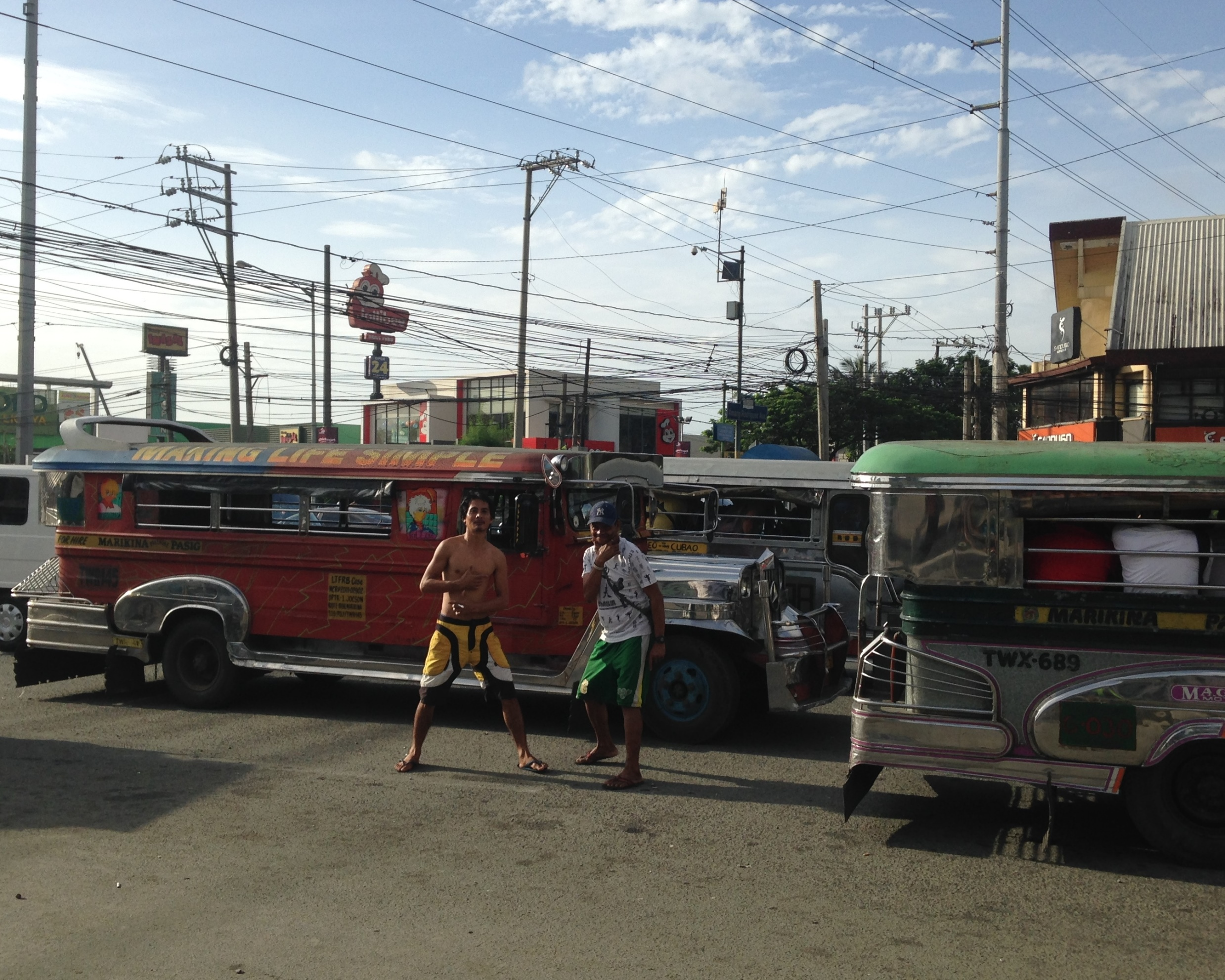 Marcos Highway jeepney guys