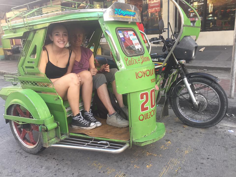 Quezon City tricycle with Rayne